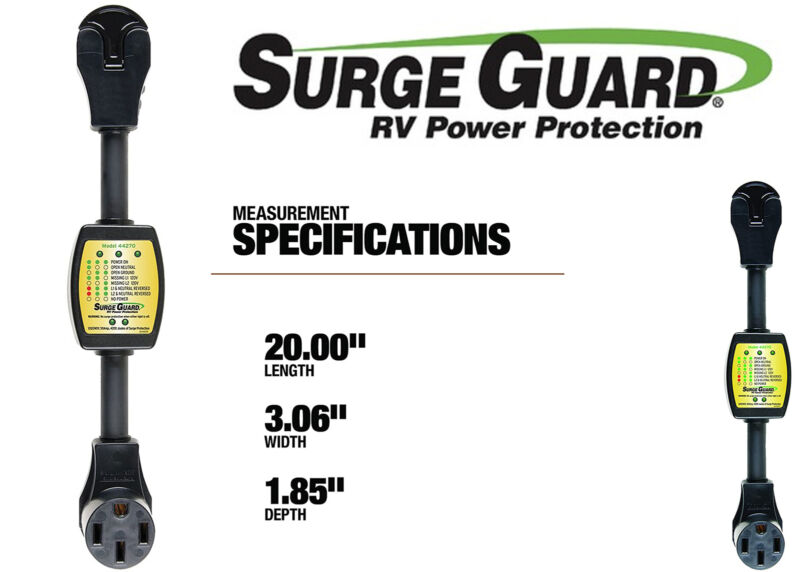 Surge Guard 44270 Entry Level Portable Surge Protector 50 Amp New Free Shipping