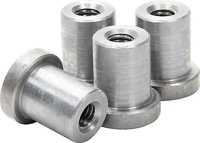 """Weld on Nuts 1/2""""-13 Thread LONG Threaded Nut Steel Chassis Mount Tab Pack of 4"""