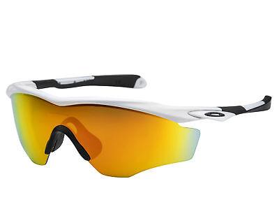 Oakley Men's Mirrored M2 OO9343-05 White Fire Iridium Wrap Sunglasses