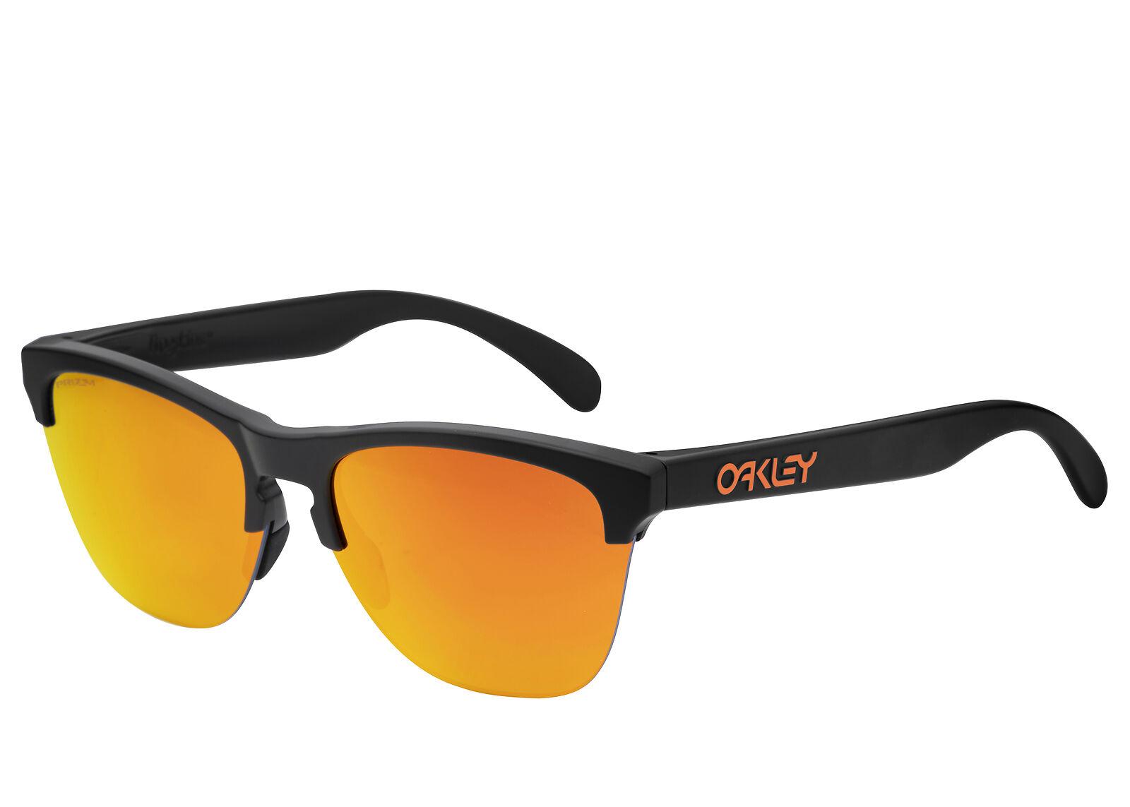 957f439e37e42 Oakley Frogskins Lite sunglasses Black Prizm Ruby OO 9374-05 9374-0563