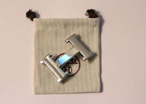 32 mm Rare Hermes Silver Polished Belt Hermes Buckle