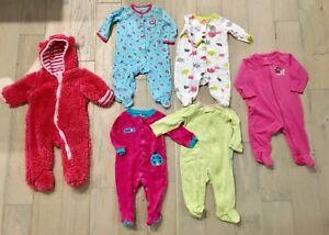 3-6 month girls sleepers