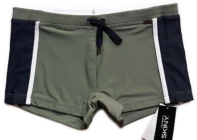 SKINY Badehose Größe M/5 swim suit Badeshorts Badeboxer olivgrün army pant
