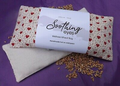 Wheat Bag/Unscented Soothing Eyes-Yoga-Heat/Cold Pack Removable Washable Cover Heat Packs Eye Cover