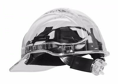Portwest Pv64 Peak View Translucent Ratcheting Hard Hat Smokeclearpink