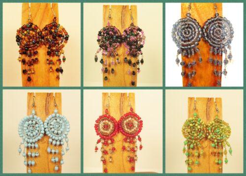 Wholesale Lot 6 PCS Handmade Beaded Dreamcatcher Earrings 6 LIGHT COLORS