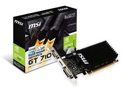 MSI GeForce GT 710 2GD3H LP Graphics Card, Fanless Heatsink, Low Profile