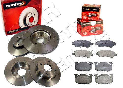 FOR PEUGEOT 206 2.0 GTi HDi FRONT & REAR MINTEX BRAKE DISCS & MINTEX BRAKE PADS