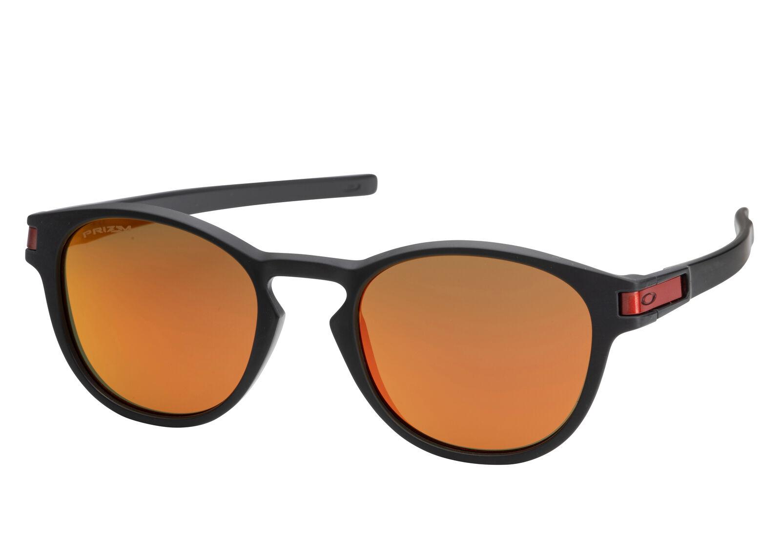 95ec8c0b86470 Oakley Latch Sunglasses Matte Black Prizm Ruby OO9265-29 9265 29 ...