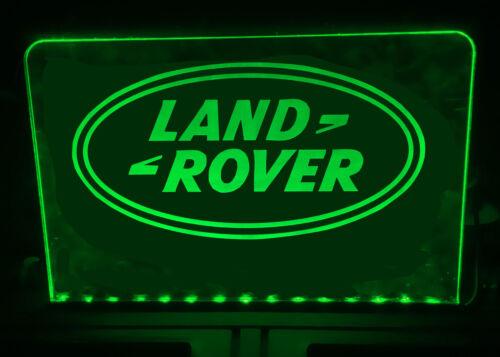 LAND ROVER ILLUMINATED LIGHT UP SIGN PLAQUE