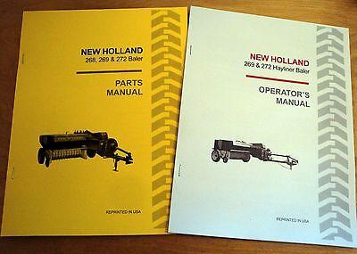 New Holland 269 272 Hayliner Baler Operators And Parts Manual Catalog Book Nh