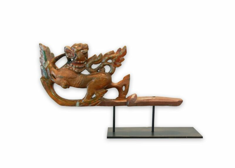 Wood Carved Lion Dog Prow of a cart, Burmese, 19th century