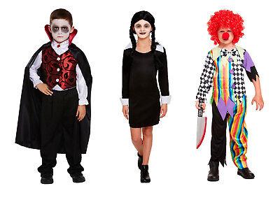 Kinder Halloween Kostüm Gruseliger Clown Wednesday Adams Deluxe - Kinder Halloween Clown Kostüm