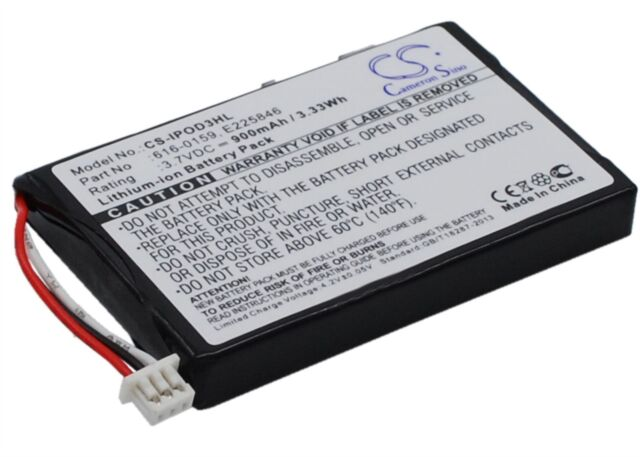 Battery for Apple 616-0159 900 mAh Li-ion