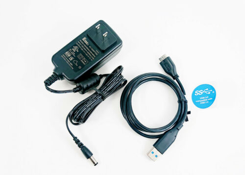 Authentic AC Power Adapter w/ USB Cable for Western Digital My Book External HDD