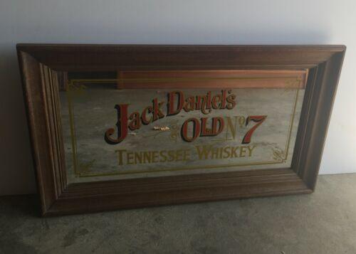 "Jack Daniels Old No 7 Vintage Mirror Sign -  30"" X 17"" Whiskey Man Cave Bar"