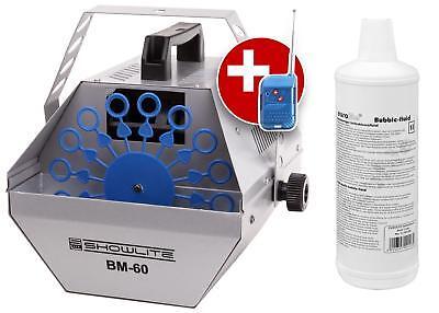 Professionelle Seifenblasen Maschine für Disco & Club + 1L Eurolite Nebelfluid (Nebelmaschine Seifenblasenmaschine)
