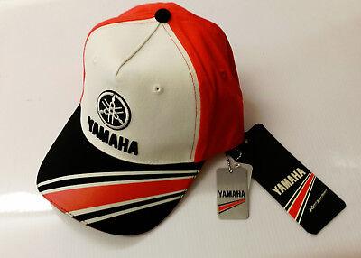 New Genuine Yamaha Baseball Cap Hat Kids Size Red & White  Ref. N17AH400B000