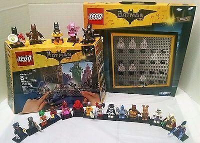Lego Batman Movie Maker   All 20 Batman Minifigures 71017   Display Case For All