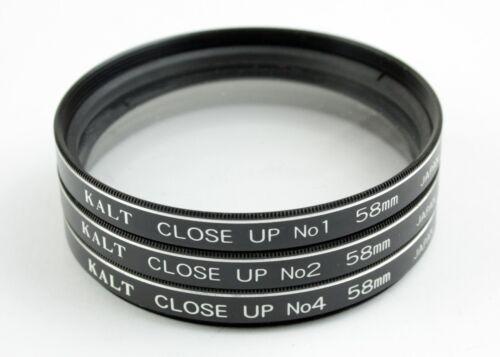 195633 Kalt 3-Lens Close-Up Filter Set 58mm +1, +2, +4 w/Case