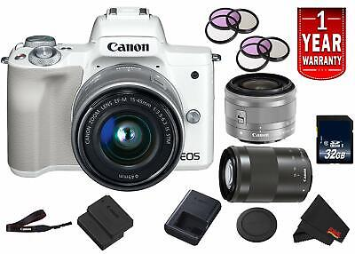Canon EOS M50 Mirrorless Digital Camera (Intl Model) Model w/ 15-45mm is STM and