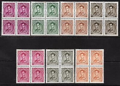Thailand Early MNH Blocks of four. Superb A+A+A+
