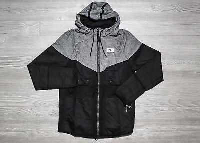 NEW Nike International Windrunner Hooded Jacket Black Gray 831130-010 $140.00