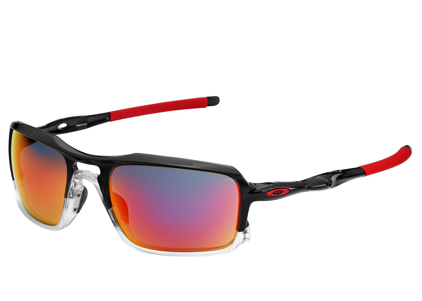 c62ffa7c560e7 Oakley Triggerman OO9266-10 Black Ink With Ruby Iridium Lens 9266 10  Sunglasses