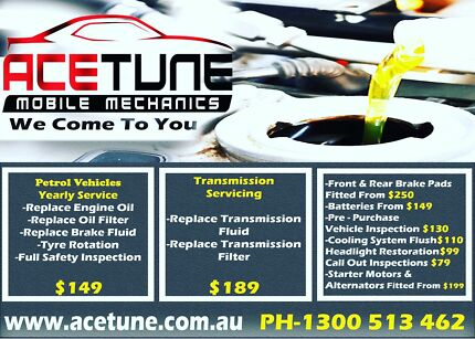 ACETUNE MOBILE MECHANICS .... THE WORKSHOP THAT COMES TO YOU .....
