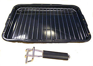 Belling Grill Pan, Handle & Trivet 385 x 300