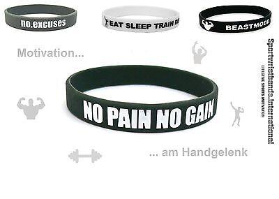 Sport Gummi Motivation Armband Fitness Bodybuilding Training Crossfit Unisex NEU