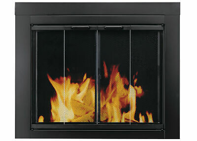 Ascot Fireplace Screen and Bi-Fold Track-Free Glass Door, Sm
