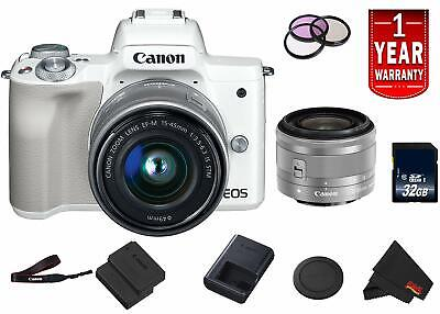 Canon EOS M50 Mirrorless Digital Camera (Intl Model) Model w/ 15-45 is STM Lens