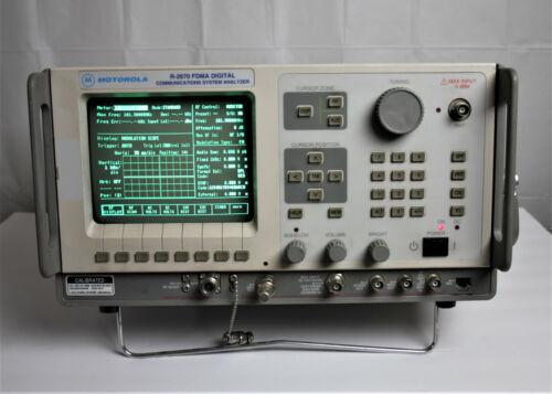 Motorola R2670 FDMA Digital Communications System Analyzer R2670A