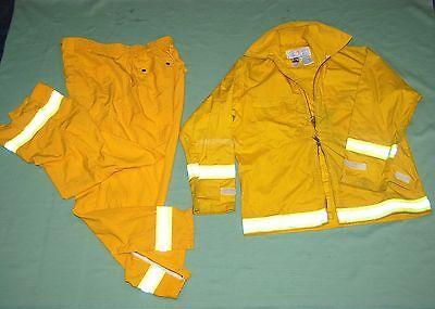 Firefighter Wildlandbrush Fire Jacket Pants Wreflector Stripes