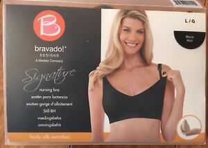 Bravado Body Silk Nursing Bra - Black Large