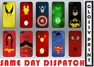 MARVEL-SUPERHERO-FAMOUS-CARTOON-QUIRKY-IPHONE-5-5s-BLACK-WHITE-HARD-CASE-COVER