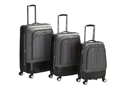 Rockland Rome 3 Piece Hybrid Eva/abs Spinner Luggage Set