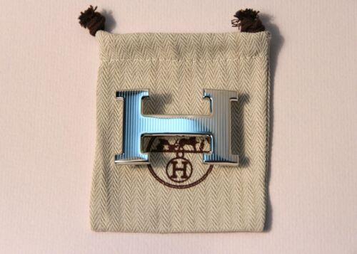 32 mm Rare Hermes Silver Strip Belt Hermes Buckle