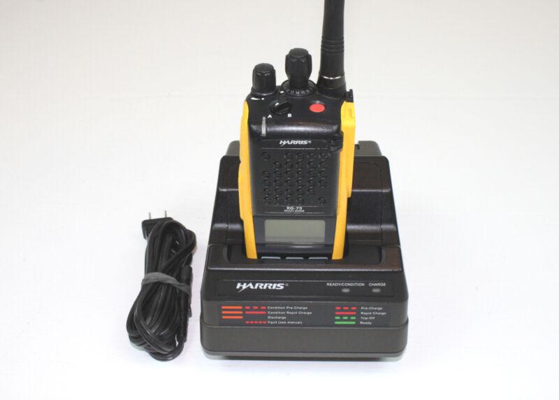 Harris XG-75P VHF 136-174 ANALOG 1024 ch 6W Portable Radio YELLOW