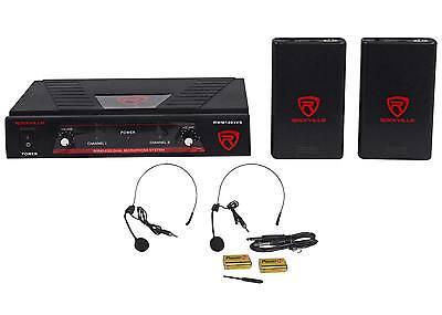 Купить Rockville RWM1203VS - Rockville RWM1203VS VHF Wireless Dual Headset Microphone Mic System