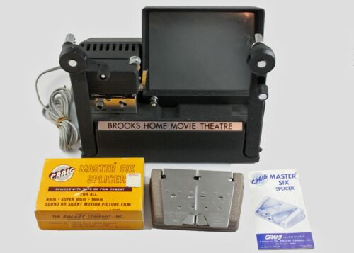 196301 Brooks Home Movie Theater Film Editing Station w/Splicer As-Is