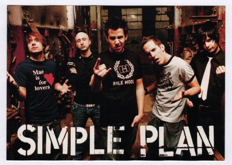 "6x Simple Plan ""2"" - Postcard (Lot of 6 identical Postcards)"
