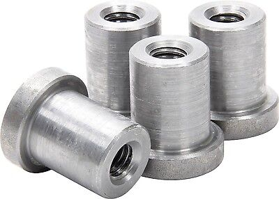 """Weld on Nuts 3/8""""-16 Thread LONG Threaded Nut Steel Chassis Mount Tab Pack of 4"""