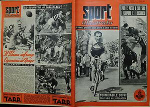 SPORT-ILLUSTRATO-N-14-07-APR-1955-FORMIDABILE-COPPI-SOLITARIO-ALL-039-ARENACCIA