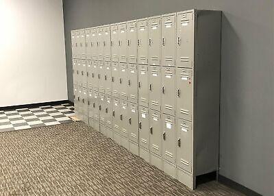 Used Lyon Brand Metal Locker Tower Set 3 Lockers Stacked
