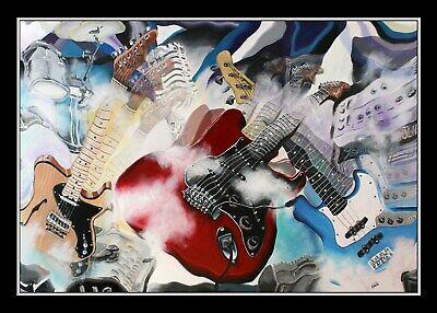 Fender Experience Gitarre Stratocaster Telecaster Jazz Bass Grafik Volker Welz
