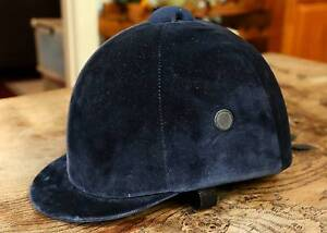Horse riding helmet - navy blue velvet by Horka (Holland) North Strathfield Canada Bay Area Preview
