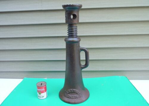 Antique R. S. & I. Mfg Co 2-1/2x16  Railroad House Barn Lifting Screw Jack tool