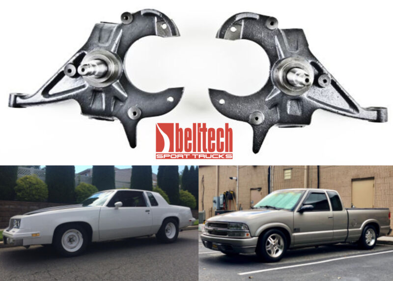 Belltech 2100 Lowering Drop Spindle Set For Gm Cars & Trucks New Free Shipping
